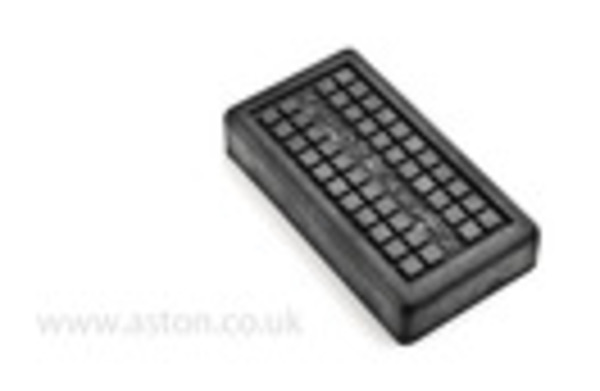 RUBBER FOOTREST PAD  PACK OF 2