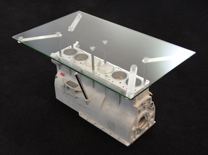 Aston Martin Enthusiast DB5/DB6 Rare Engine Block Coffee Table