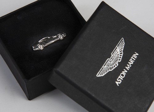 Aston Martin Silver Vanquish Tie Tack - AH1089
