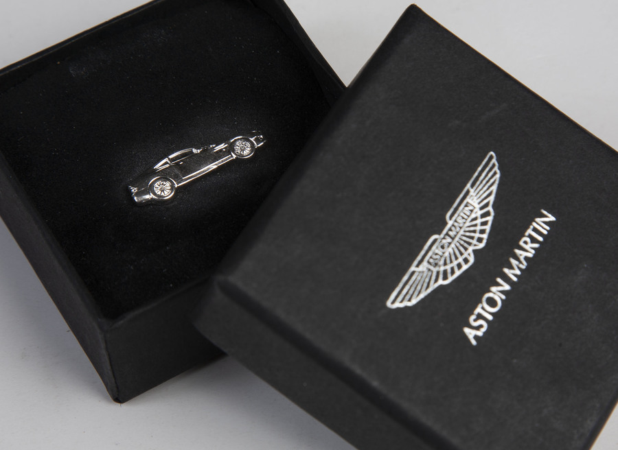 Aston Martin Silver Vanquish Tie Tack