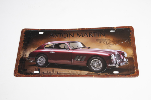 ASTON MARTIN DB2 TIN PLATE SIGN - AWSIGN5