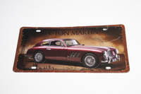 ASTON MARTIN DB2 TIN PLATE SIGN