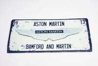 RETRO ASTON MARTIN TIN PLATE SIGN - WHITE