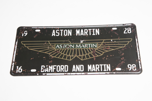 RETRO ASTON MARTIN TIN PLATE SIGN - BLACK - AWSIGN01