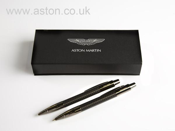 aston martin lamy carbon fibre ball point pen and pencil set. Black Bedroom Furniture Sets. Home Design Ideas