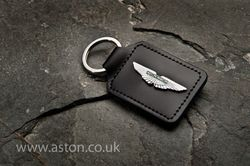 Aston Martin Rhodium Plated Wing Keyring - AH1008SP