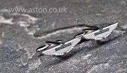 Aston Martin Rhodium Plated 'Wings' Cufflinks