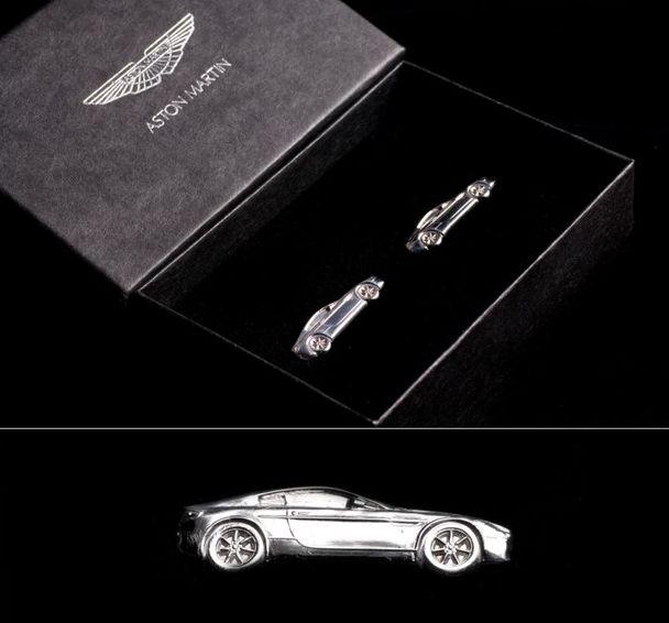 Silver V8 Vantage Cufflinks