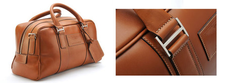 Small Saddle Leather Holdall - 702578