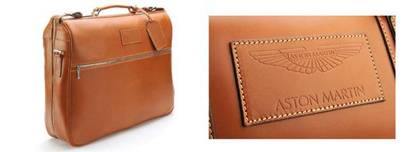 Aston Martin Saddle Leather Garment Bag