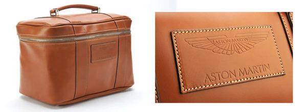 Aston Martin Saddle Leather Beauty Case