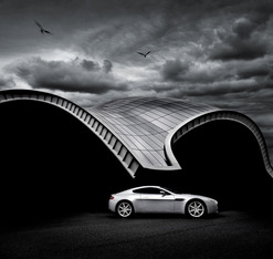 Aston Martin AMV8 Vantage Print - Tim Wallace - ABL8554
