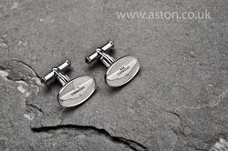 Aston Martin Silver Oval Cufflinks - AH1001