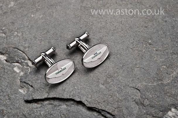Aston Martin Silver Oval Cufflinks