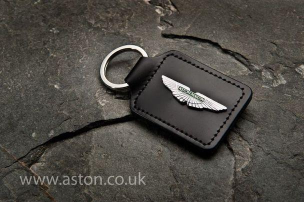 Aston Martin Rhodium Plated Wing Keyring