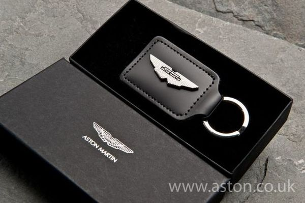 Aston Martin Rhodium Plated DB Wing Keyring - AH1019