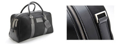 Large Fabric/Leather Holdall - 702031
