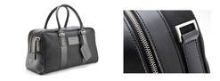 Medium Fabric/Leather Holdall - 702032