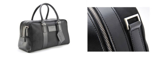 Medium Fabric/Leather Holdall
