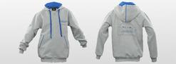 Aston Martin Kids Full Zip Hoodie - Grey/Blue - 704716