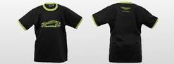 Black Cotton Green Sketch T-Shirt - 704718