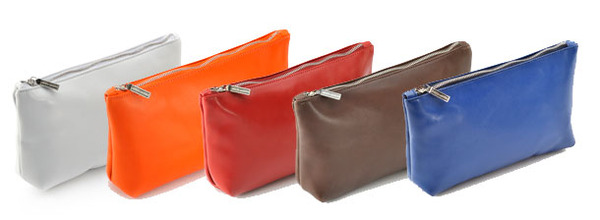 Aston Martin Coloured Leather Pouch