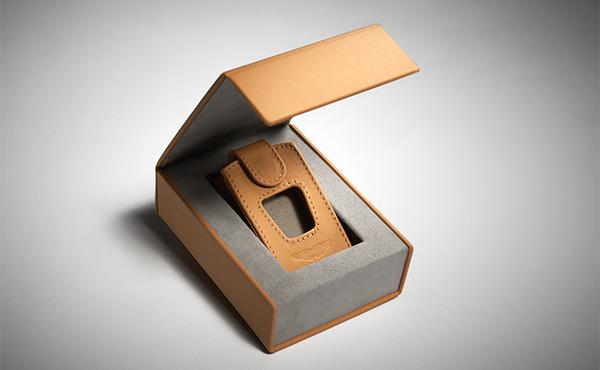 Leather ECU Key Pouch with Presentation Box