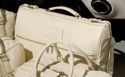 Cream Leather Garment Bag - 705459
