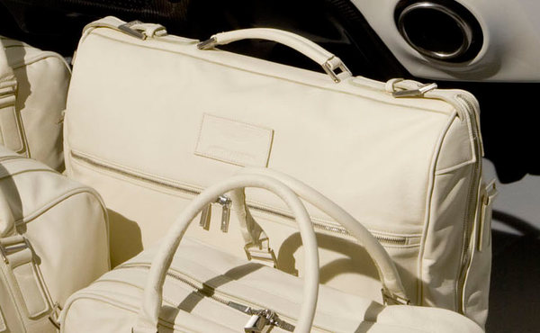 Cream Leather Garment Bag