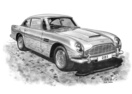 DB5 Black & White A3 Print - Mike Harbar