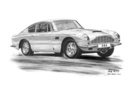 DB6 Series I Black & White A3 Print - Mike Harbar