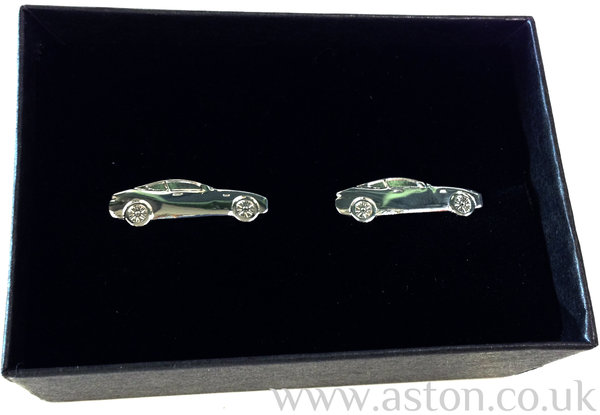 Aston Martin Rhodium Plated DB9 Cufflinks