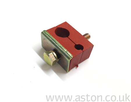 Clamp Block, Fuel And Brake Pipes, Double, Halves - 020-034-0133