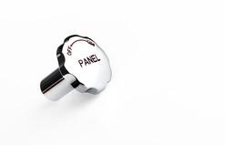 Chromed Control Knob - 'Panel' - AWCK-7