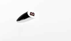 Chromed Toggle Knob - Letter 'B' - AWCK-11