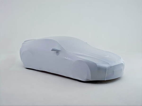 CARCOVER-DBS         SILVER WITH BLACK    PIPING